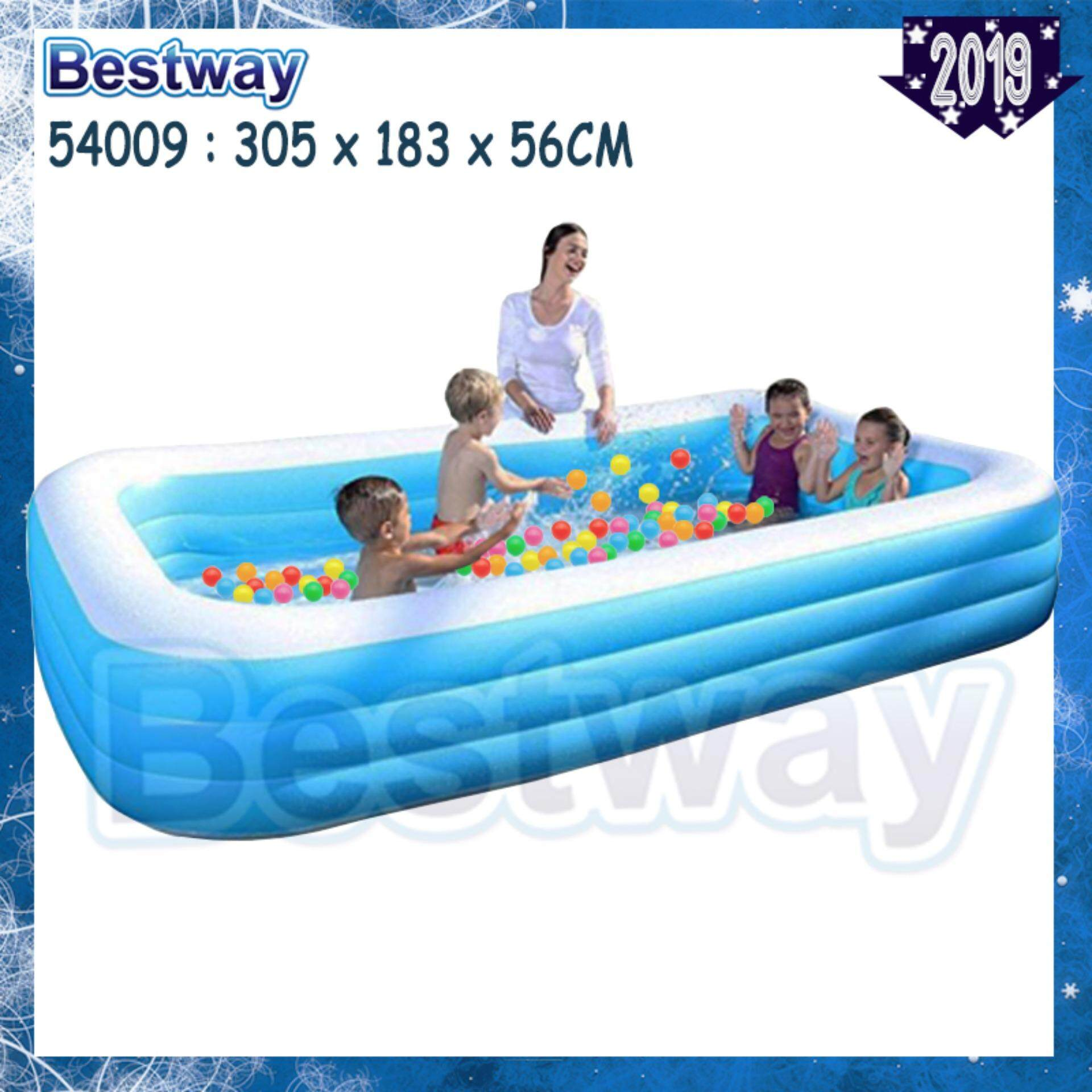 Intex Vs Bestway Review Bestway 3 05 Meter 54009 305cm X 183cm X 56cm Extra Large 3 Layers Inflatable Family Swimming Pools For Kid Or Family Np170 Toys For Boys