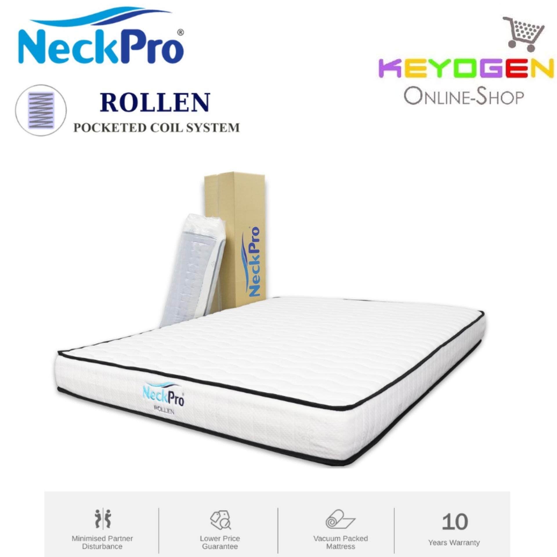 Rolled Single Mattress Neckpro Rollen Single Super Single Queen King Rolled Pocketed Spring Mattress 8 Inch Thickness