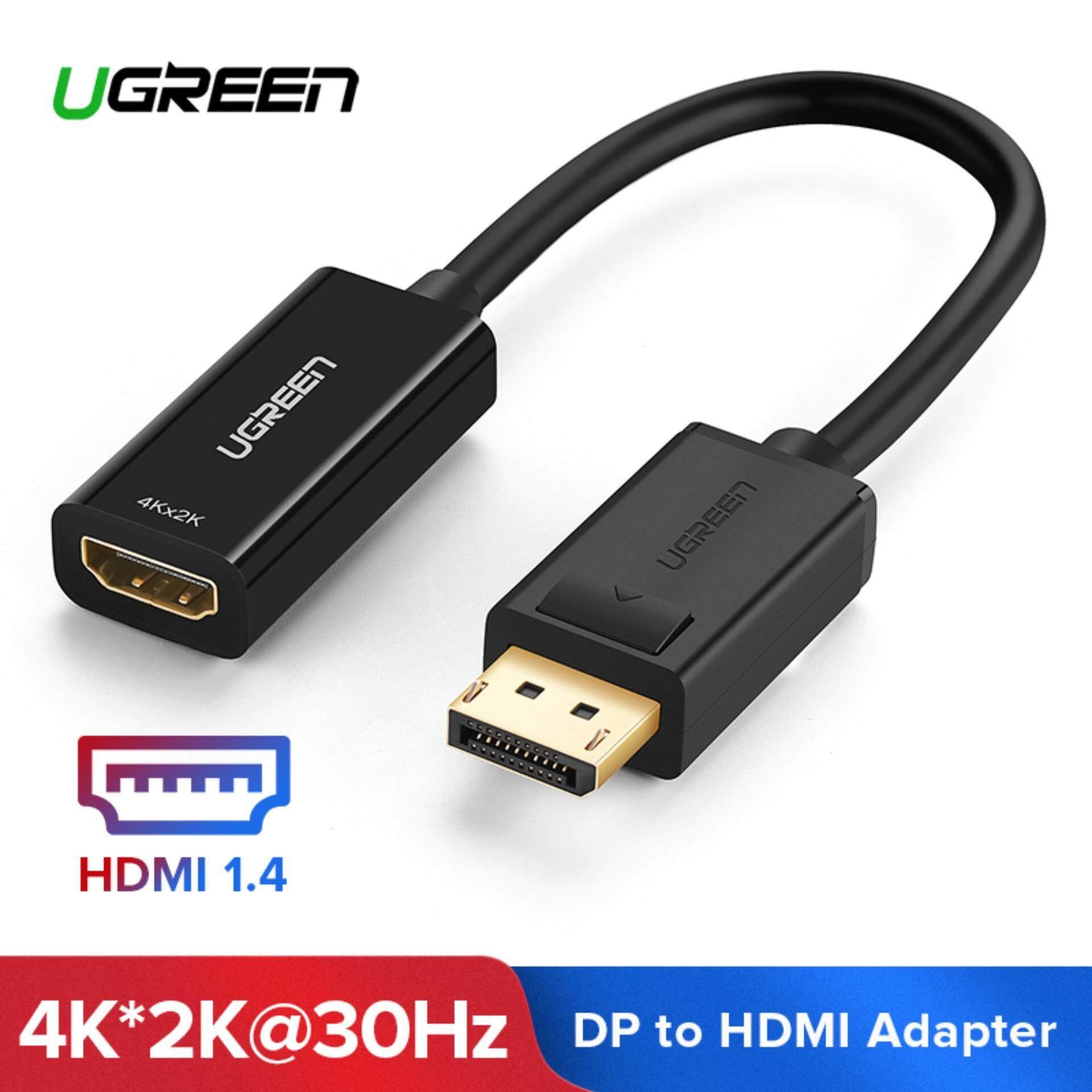 Display Displayport Ugreen 4k 2k Displayport Dp Male To Hdmi Female Cable Adapter Display Port Converter For Projector Hp Dell Laptop My