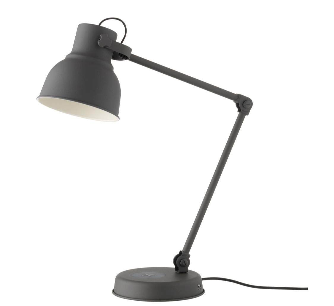 Ikea Reading Lamp Ikea Hektar Genuine Original Work Home Office Bedroom Living Room Bedside Lamp With Wireless Charging