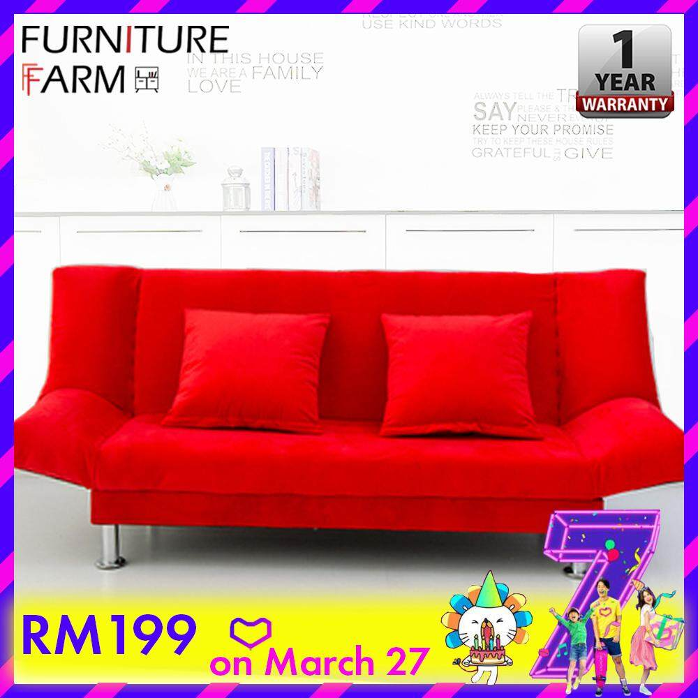 Sofa L Shape Untuk Ruang Tamu Kecil F F Iris 2 Seater Living Room 2 In 1 Foldable Designer Sofa Bed Katil Sofa