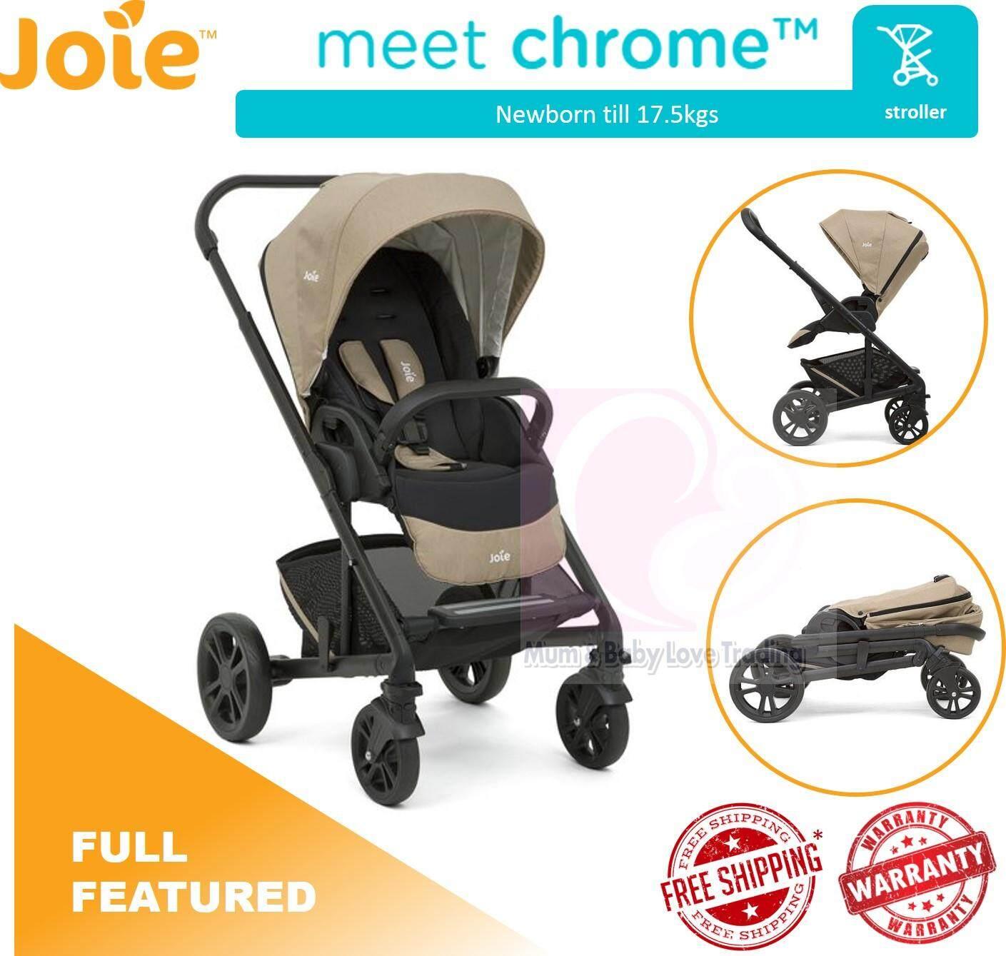 Newborn In Pram Seat Joie Chrome Baby Stroller With Reversible Seat Newborn Till 17 5kg Sandstone Malaysia