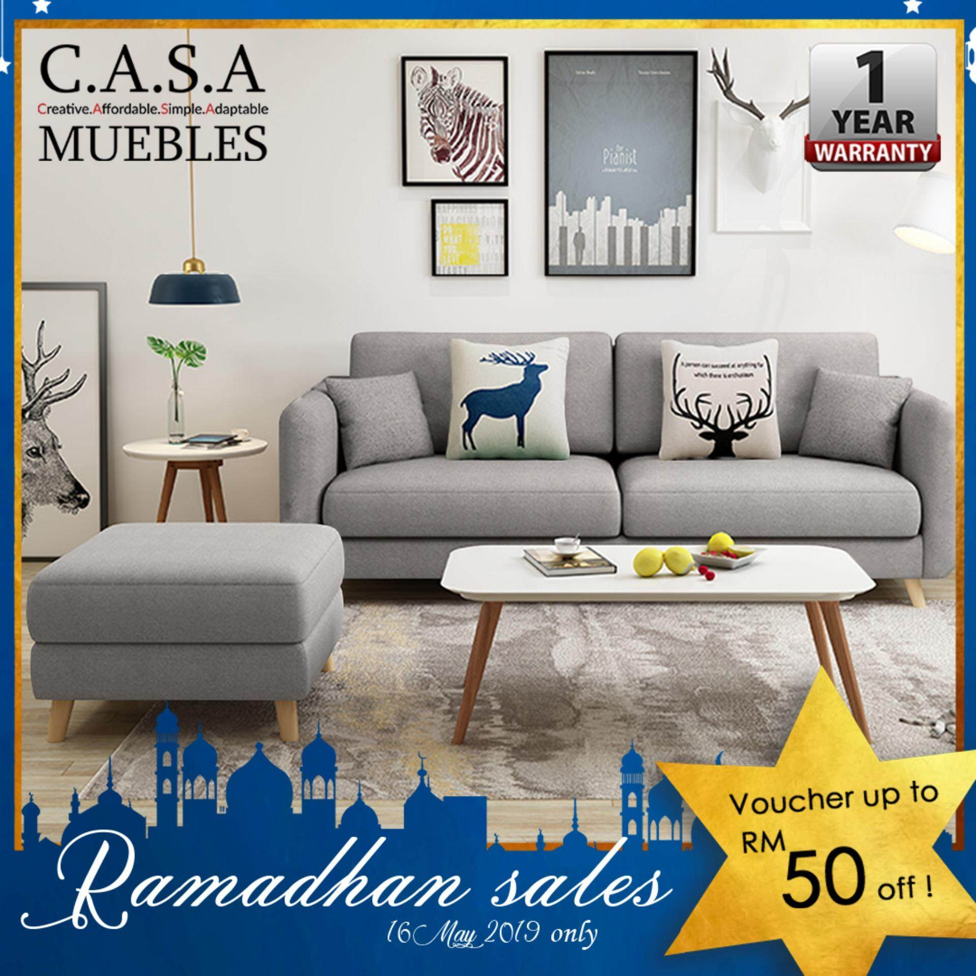 Only Muebles Casa Muebles Roosevelt 2 Seater Sofa With Coffee Table