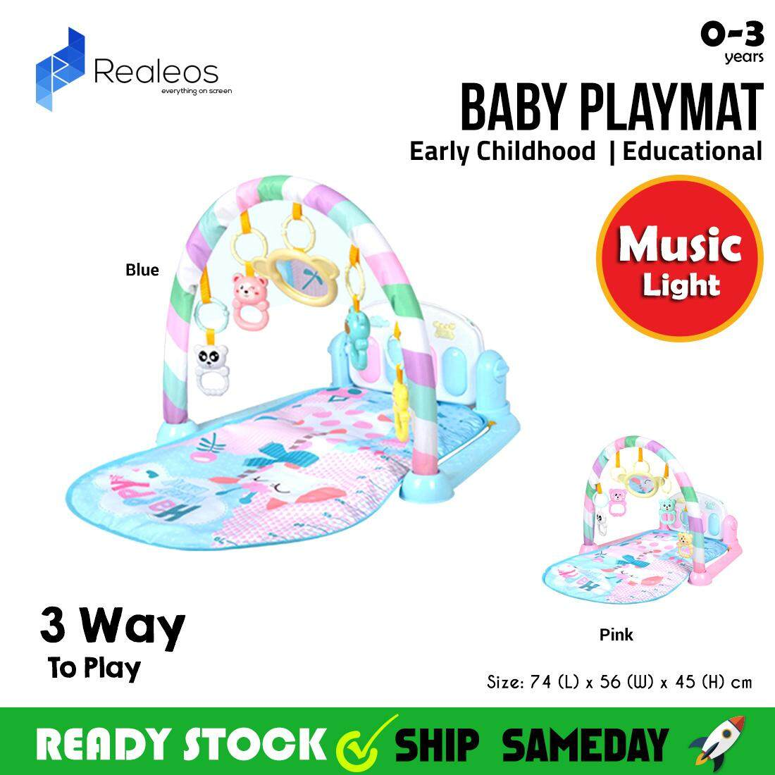 How To Play Newborn On Piano Realeos Baby Kick Play Playmat Playgym Piano Newborn Toy Music R884 Baby Toys