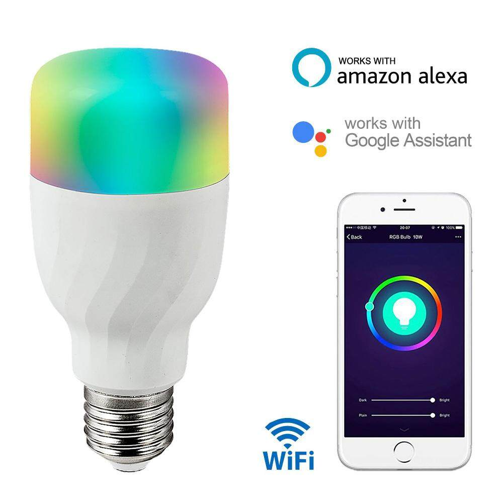 Led Bulbs Rgb Led Bulb E27 E14 16 Color Changing Light Candle Bulb Rgb Led Spotlight Lamp Ac85 265v Wifi Smart Light Bulb Multi Color Change 7w Rgbw Dimmable Led Light Support Amazon Alexa Google Home Control Lamp Works For Voice Control