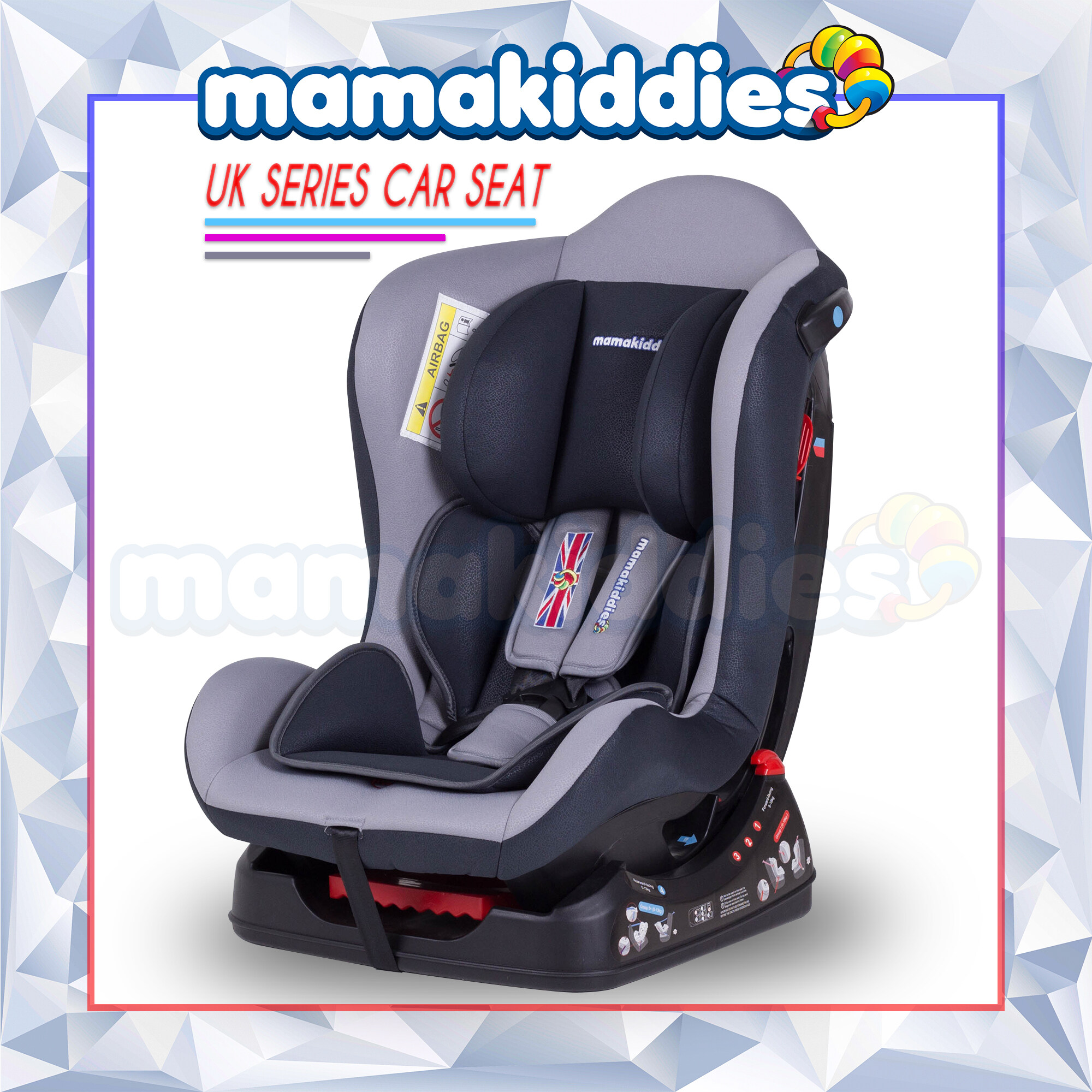 Baby Car Seat Uk Ece Certified Mamakiddies Uks Infant Baby Car Seat Convertible Carseat For New Born To 5 Years Azure