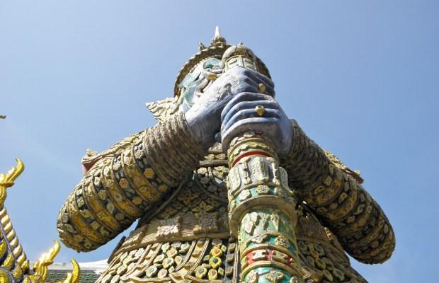 guard of the emerald buddah - bangkok
