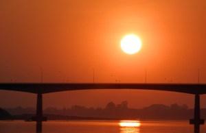 sunset in nong khai, thailand @ mekong river