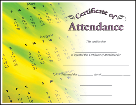 printable perfect attendance certificate - Alannoscrapleftbehind - attendance certificate template free