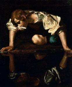Narcissus (c. 1599), by Caravaggio (1573–1610)