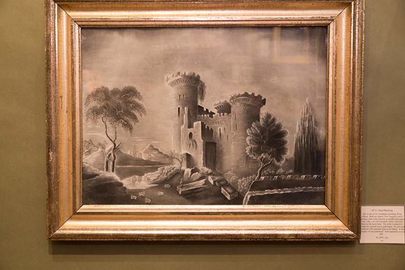 Booth #205, Sheridan Loyd Antiques: Nineteenth century sandpaper drawings.