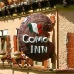 PHOTO: Como Inn sign from Model Railroad garden exhibit piece.