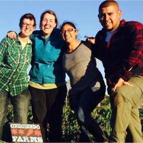 PHOTO: The growers of Creciendo Farms, including Windy City harvest graduates Rosario Maldonado and Fernando Orozco (far right).