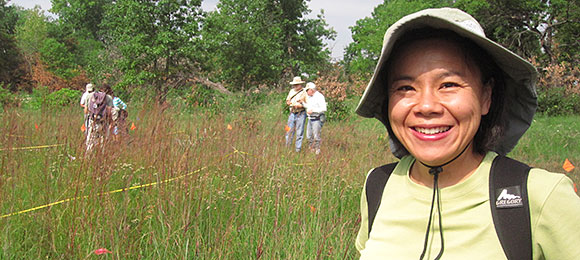 Fay Liu on a foray for Plants of Concern.