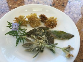 "PHOTO: How do they taste? ""Like mushrooms,"" Nancy says. Dandelions are great as a conversation-sparking finger food!"