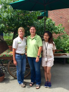 PHOTO: Lisa Hilgenberg, and Lisa Ho pose with Christine Moore from the United States National Landscape Arboretum in Washington DC.