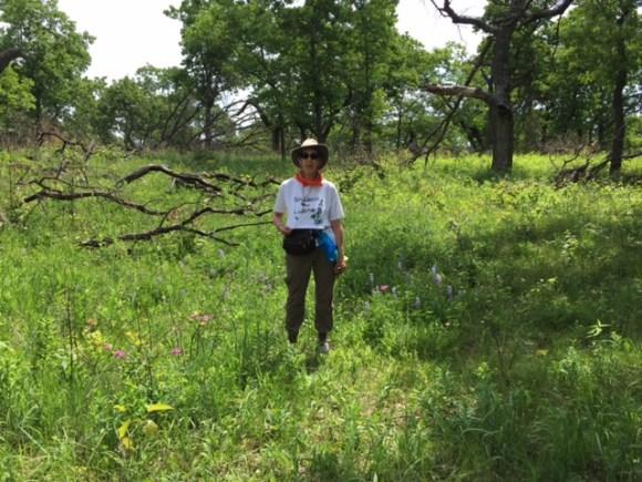 Karen Lustig on the prowl for Plants of Concern.