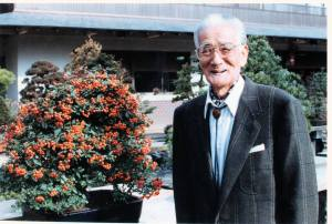 PHOTO: The late bonsai master Saburo Kato.