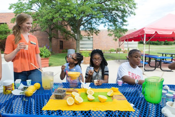 PHOTO: Garden lemonade is a total hit—and delicious on a hot day.