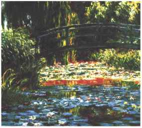 PHOTO: The Japanese bridge in Giverny by Claude Monet.