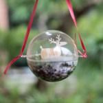 PHOTO: Moss terrarium ornament with deer.