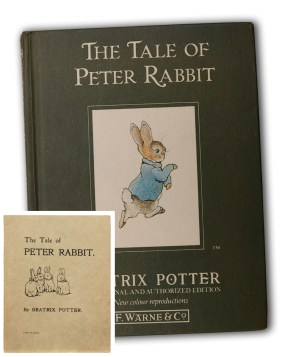 PHOTO: The Tale of Peter Rabbit, in both original black-and-white, and color editions.