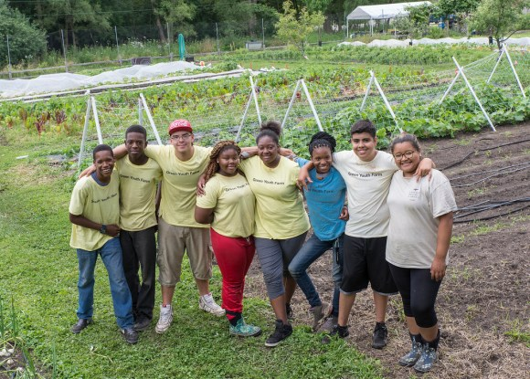 Windy City Harvest Youth Farm participants.