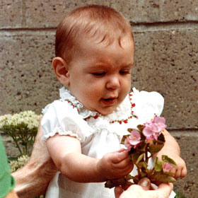 PHOTO: Julia McMahon as a baby.