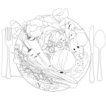 Draw and color the foods you are eating at your feast in the center of your plate on our placemat. Check the answer key to see who pollinated them.