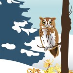 ILLUSTRATION: Owl in winter.