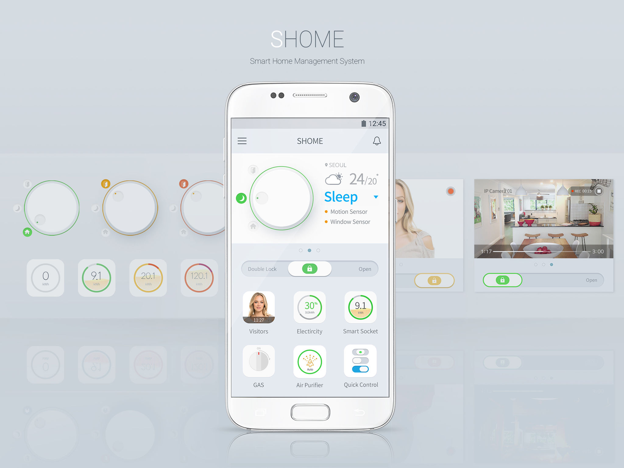 Smart Home App Shome Smart Home App Entry If World Design Guide