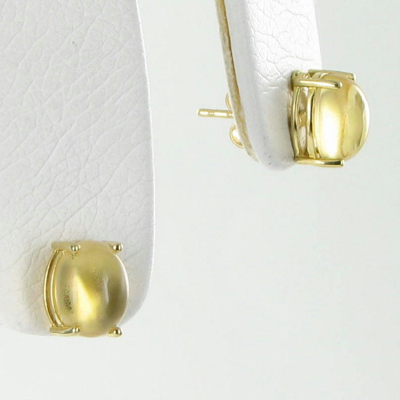 Roberto Coin Earrings Shanghai Cabochon Citrine Studs 18k