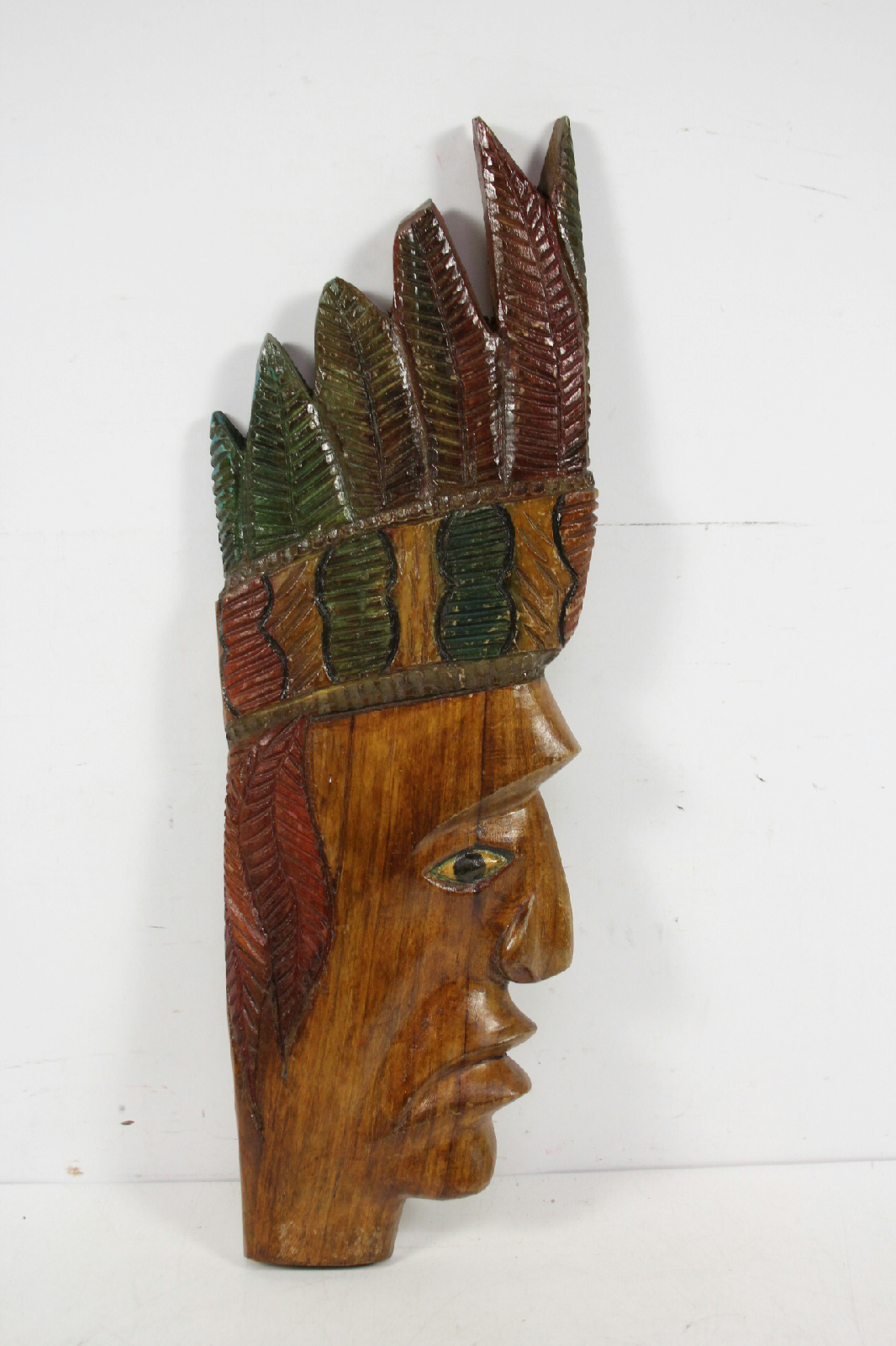 Carved Wood Wall Hanging Hand Carved Folk Art Indian Wood Wall Hanging Sculpture