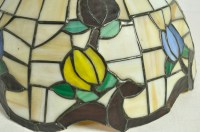 Vintage Tiffany Style Stained Glass Lamp Shade Floral ...