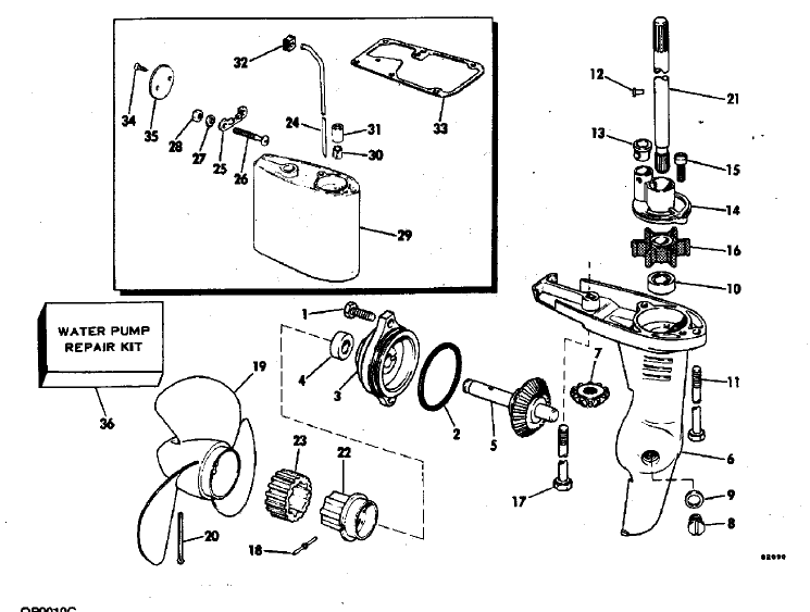 bedradings schema for omc outboard motor