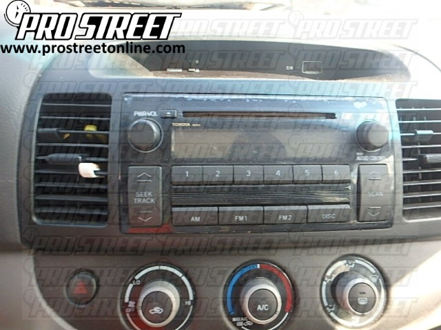 Camry stereo install autos post