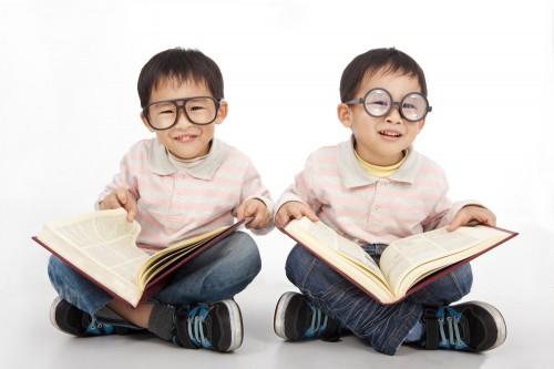 nerdy boys reading