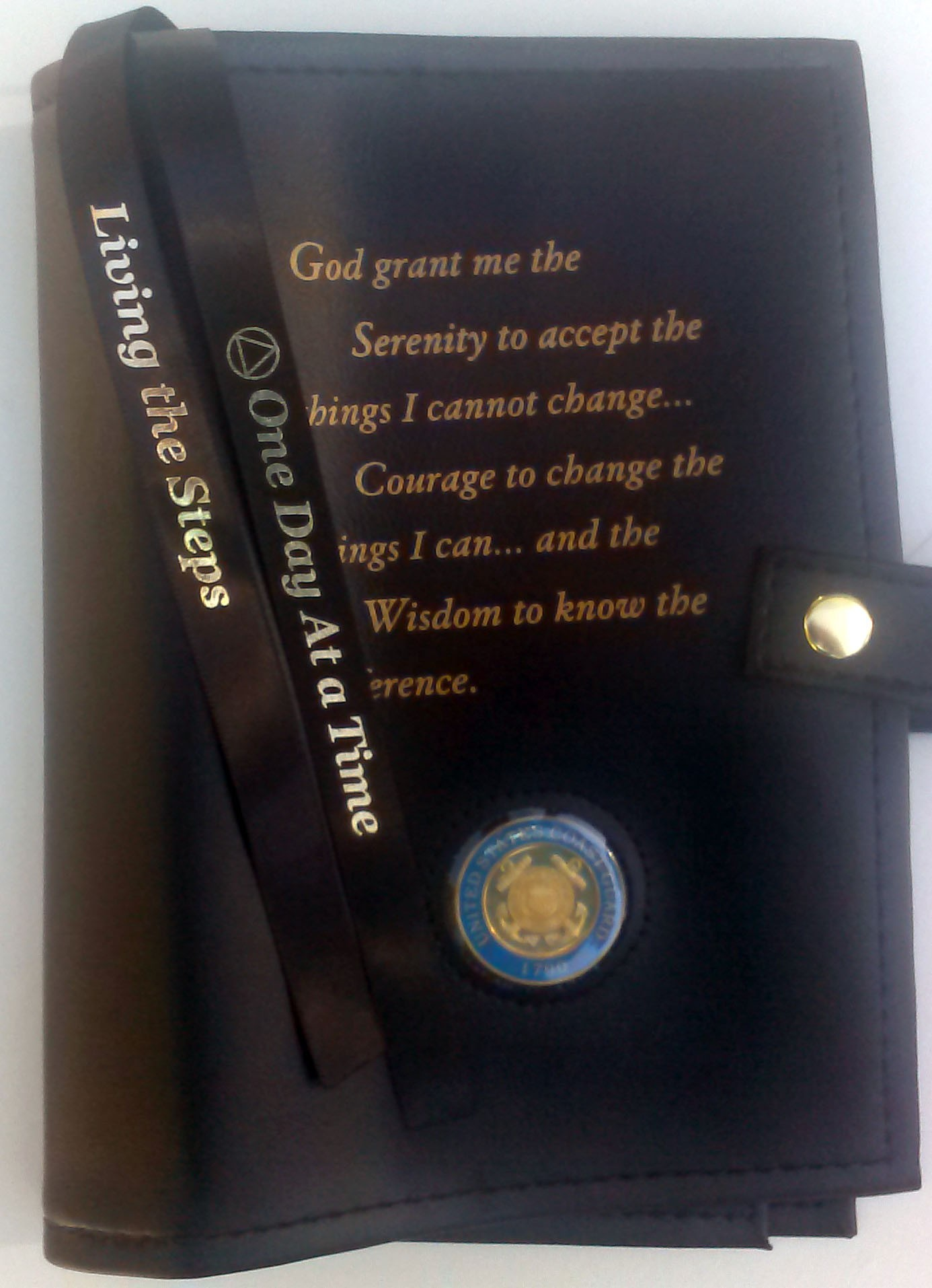 Big W Book Covers Large Print Aa Serenity Prayer Double Cover Black