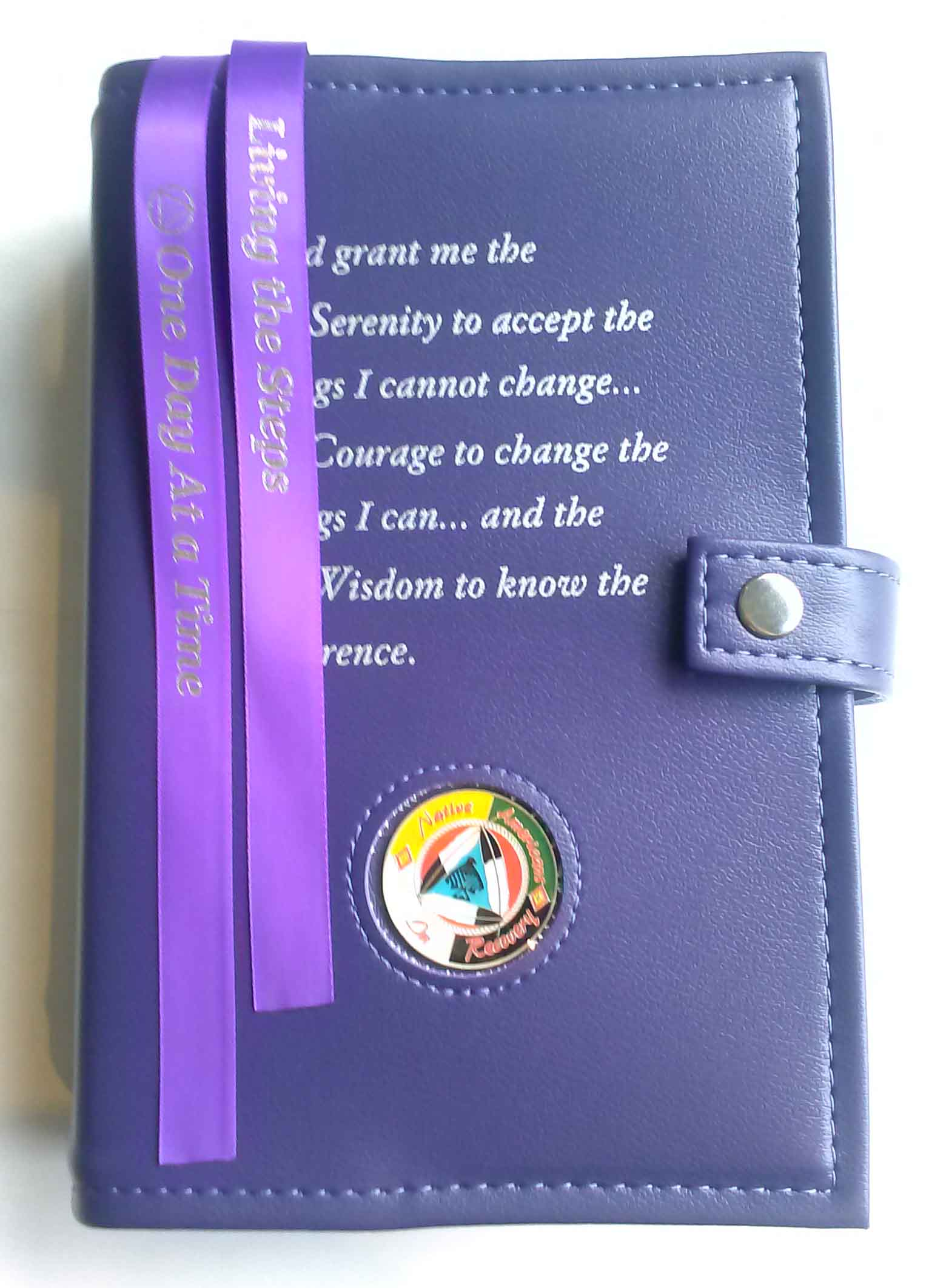 Big W Book Covers Aa Double Book Cover Serenity Prayer Purple