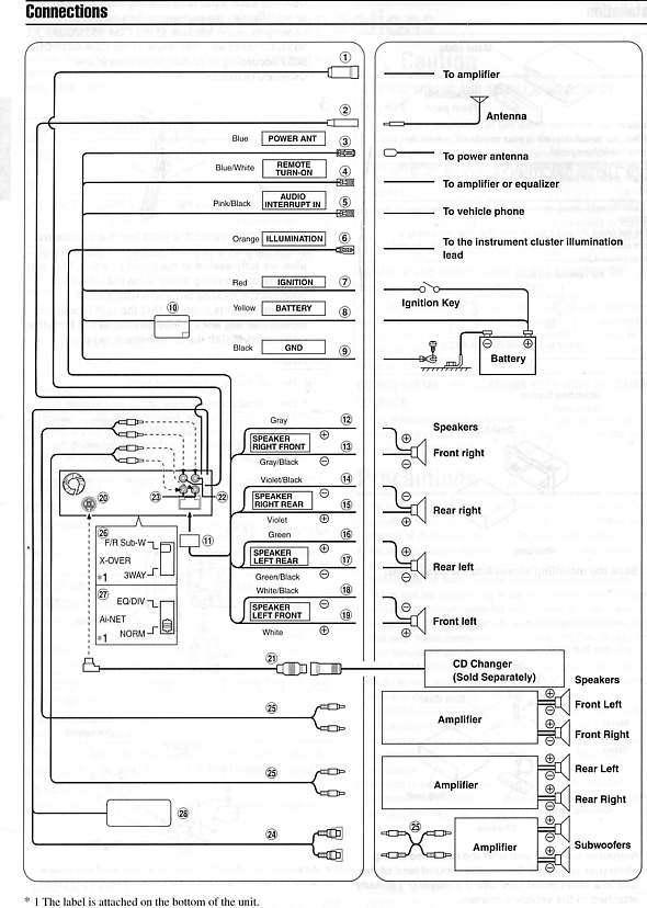 alpine mrv m500 wiring diagram