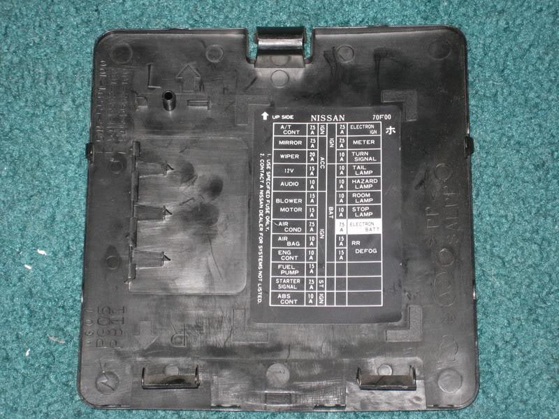 1995 240sx fuse box label