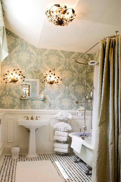 Shabby Chic Küchen Tips To Make Your Bathroom Look Larger With Shower Curtains