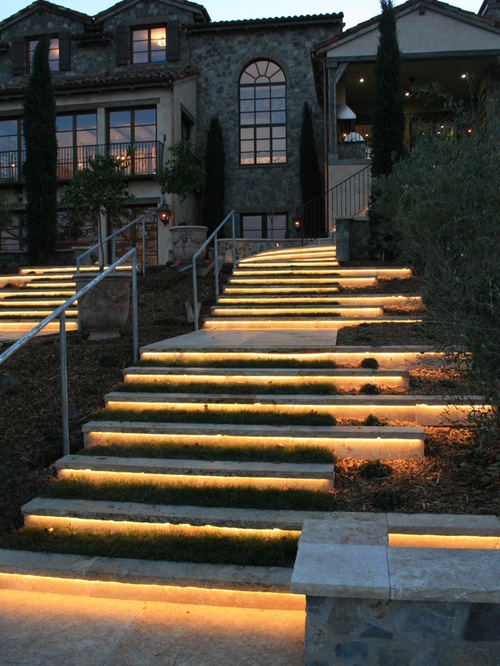 Pathway Lighting Design Ideas Outdoor Step Lighting Ideas For A Romantic Look Of Your