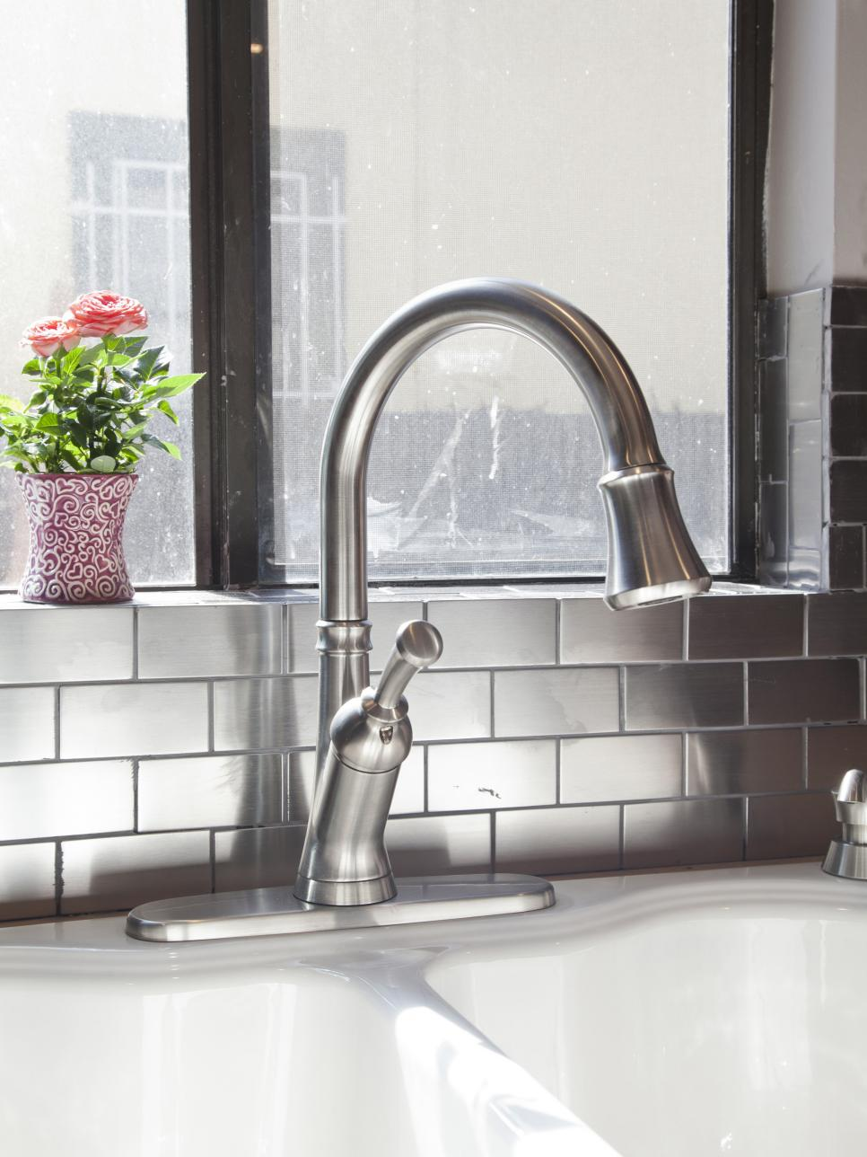 Metallic Tiles Will Add A Glamorous Backsplash In Your Kitchen Page 2 Of 2