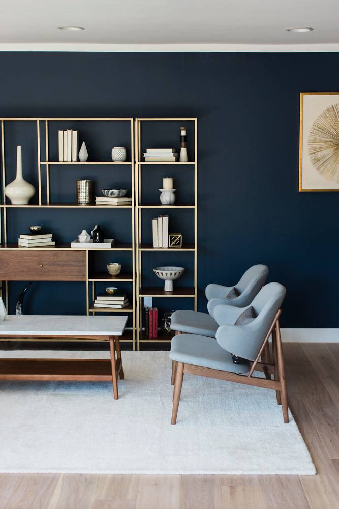 Navy And Gold Interiors That Prove The Best Combo For An