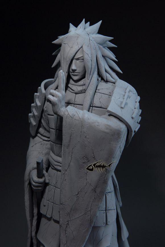 3d Fire Name Wallpaper Naruto Gk Statue The Final Valley Senju Hashirama Vs