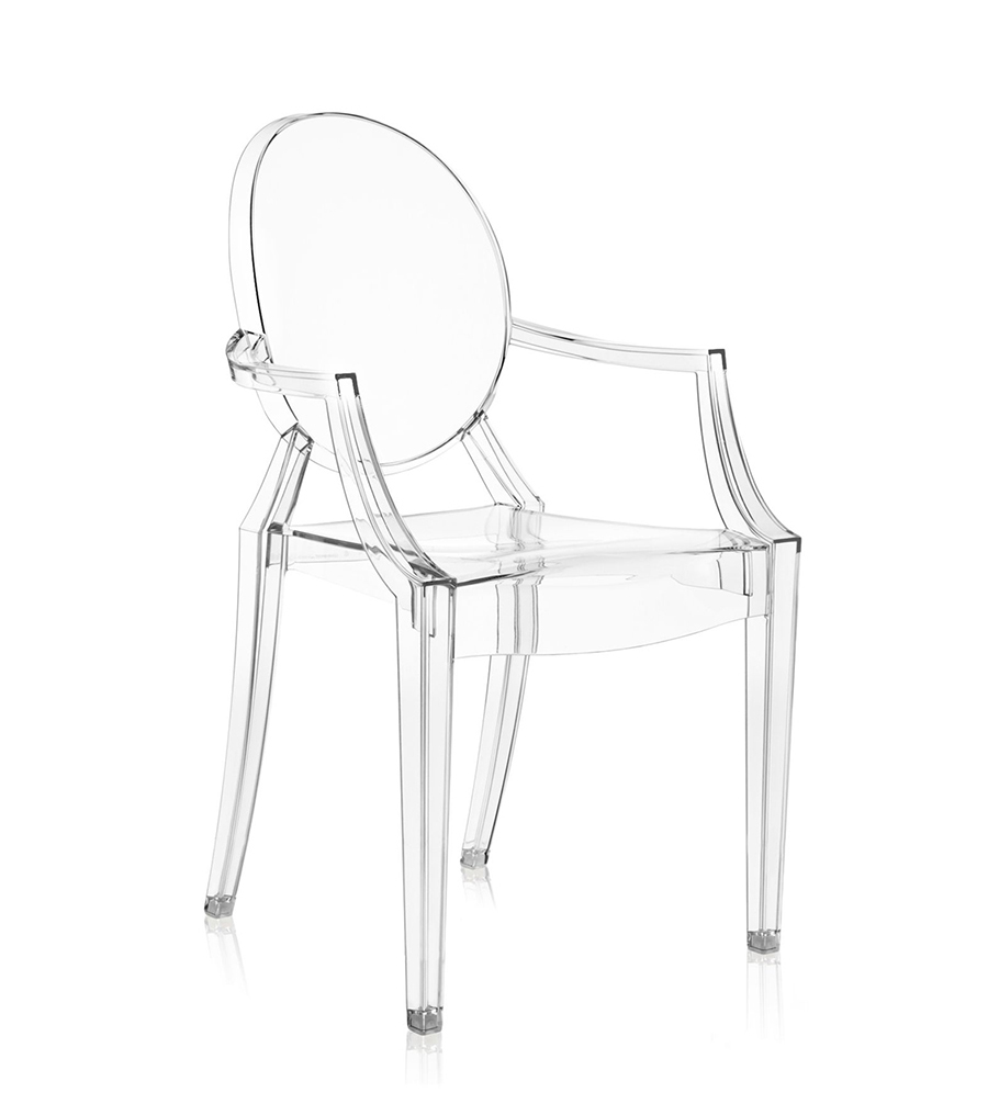 Chaise Cristal Kartell Chaise Louis Ghost Cristal Polycarbonate Transparent