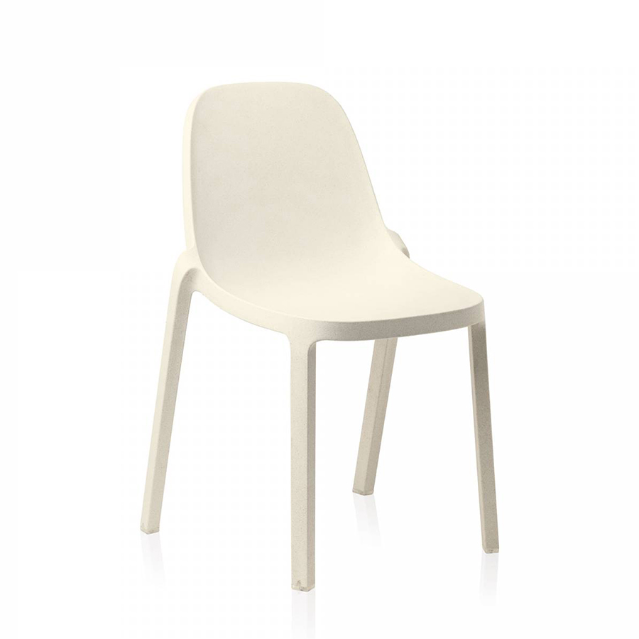 Chaises Accoudoirs Emeco Broom Stacking Chair Set De 2 Chaises Sans Accoudoirs White