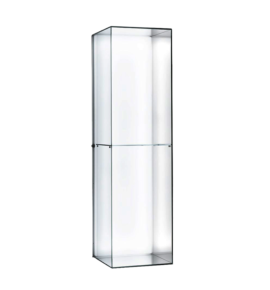 Display Glas Glas Italia Hanging Display Case Heigh Ho Hei01r With Shelf Extralight Transparent Crystal