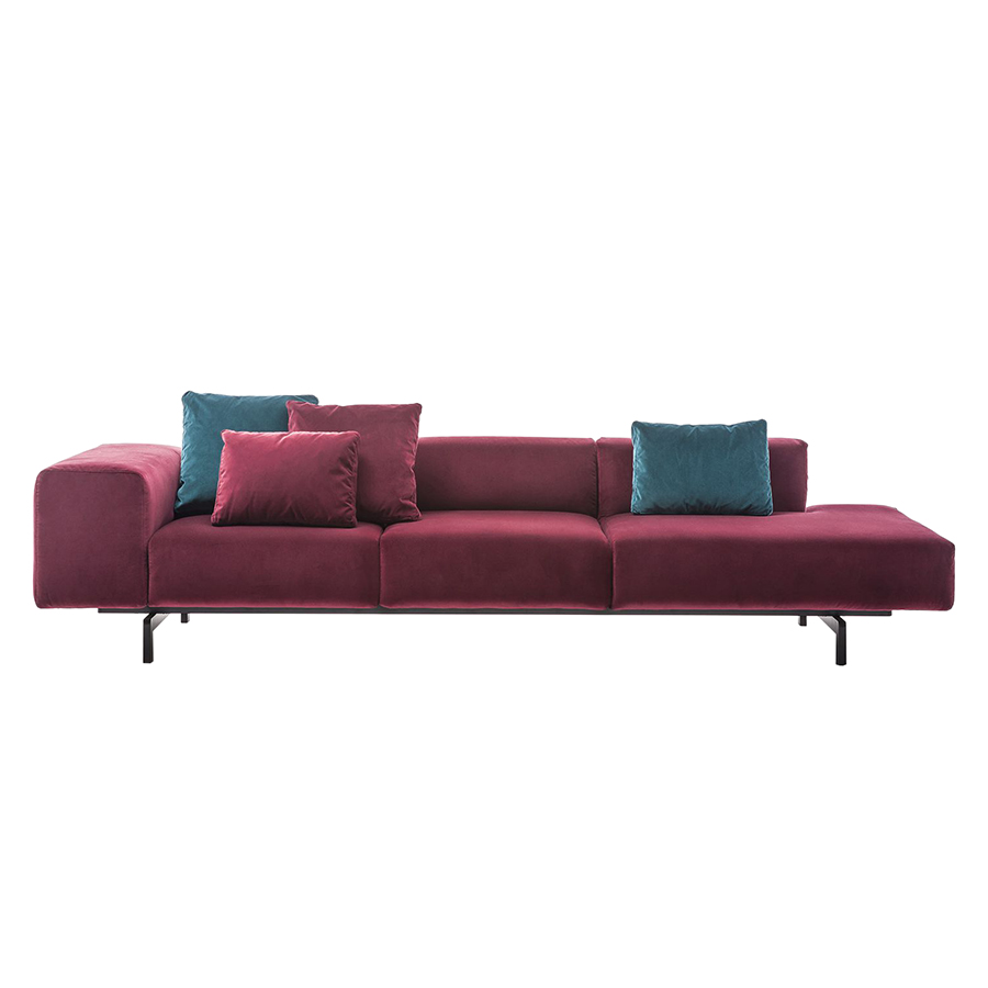 Kartell Sofa Kartell Sofa To Right 3 Places Largo Velluto Cardinal Red